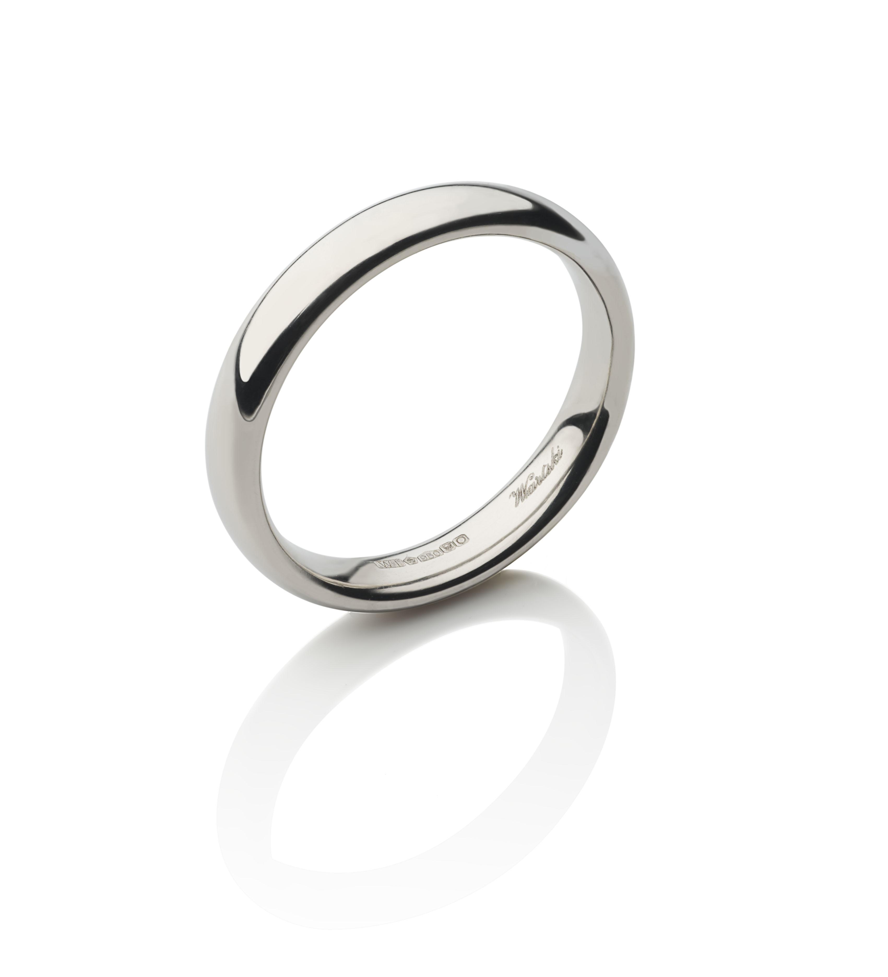 Classic Court Ring in Platinum