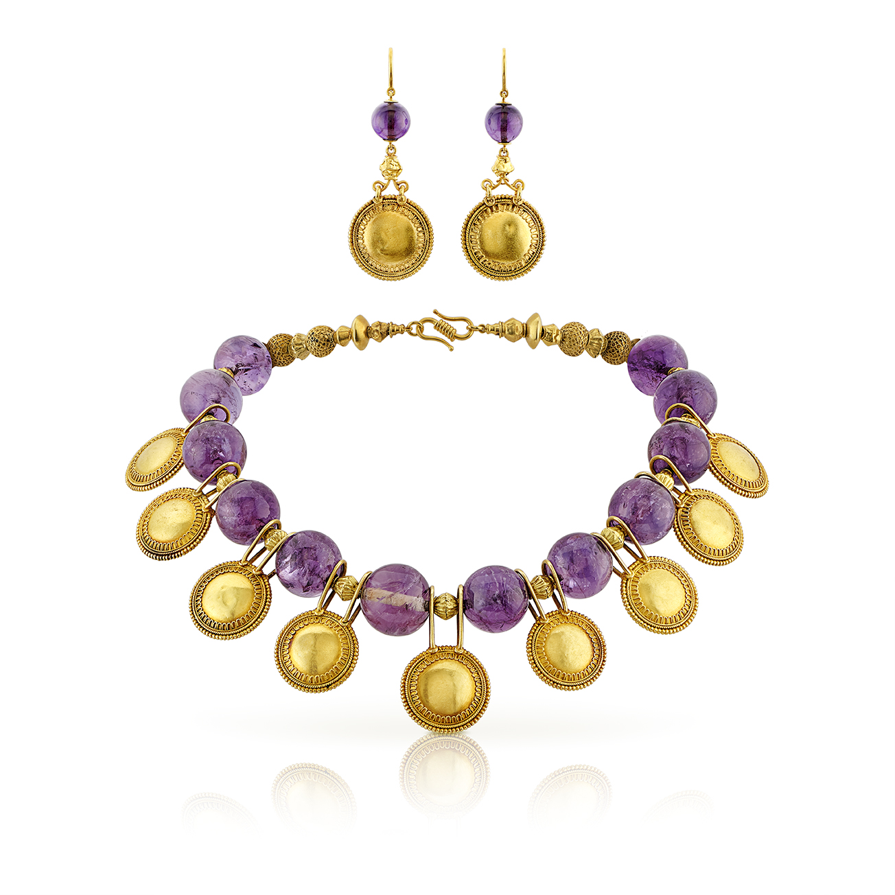 Castellani Necklace and earrings