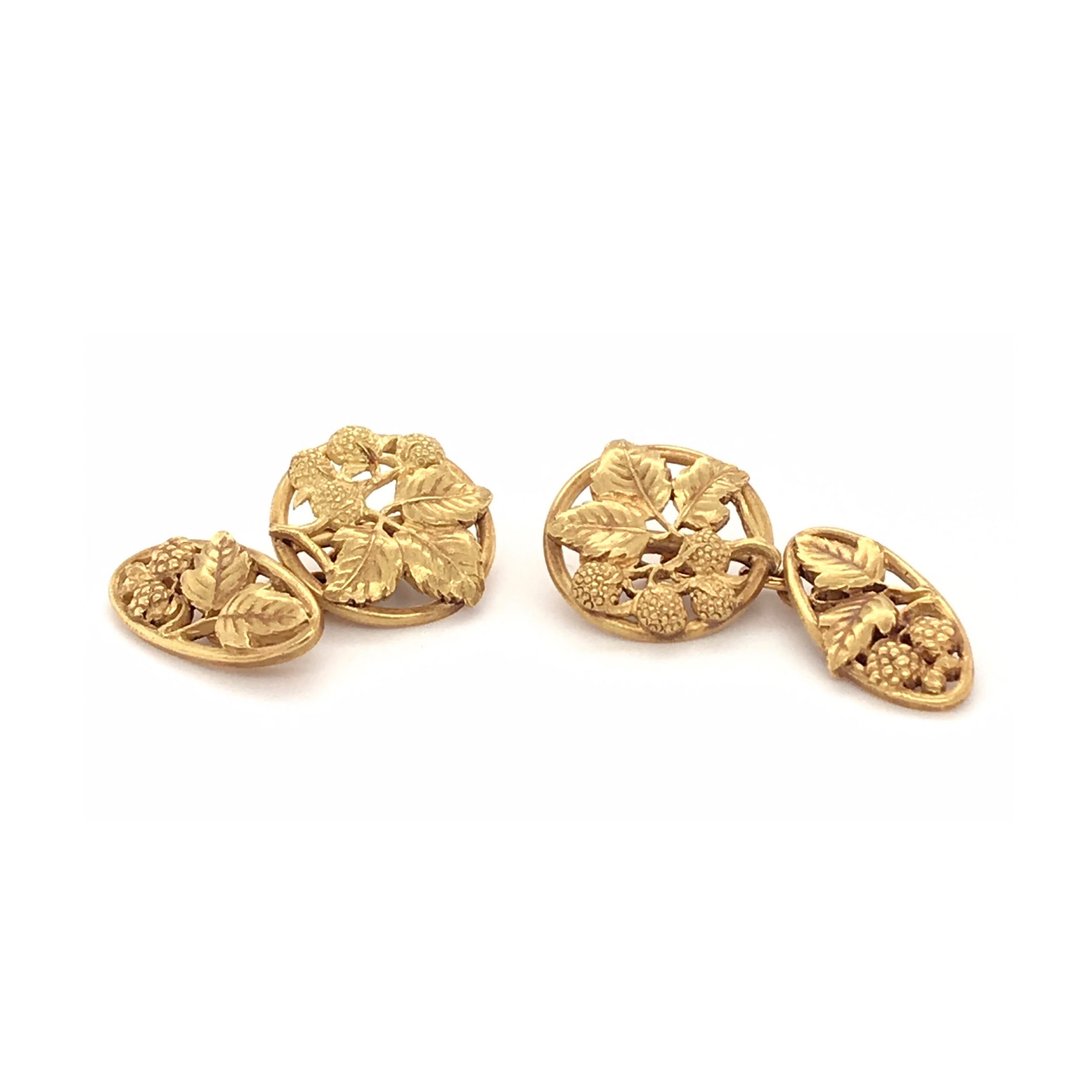 Cufflinks Gold Bramble